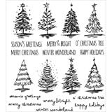 ShopForAllYou Stamping & Embossing Stampers Anonymous''SCRIBBLY Christmas'' Rubber Cling Stamp Set