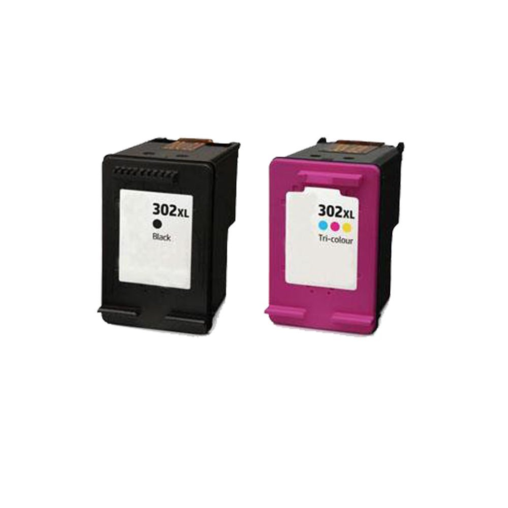 2 ECS Compatible Cartuchos de Tinta reemplazar 302 x l para HP ...