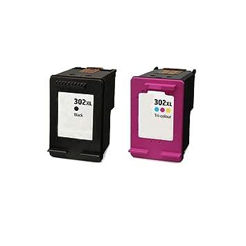 2 ECS Compatible Cartuchos de Tinta reemplazar 302 x l para ...