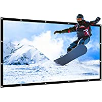 APEMAN 85'' 16:9 Projector Screen Foldable Portable Screen Home Theater Indoor Outdoor Presentation