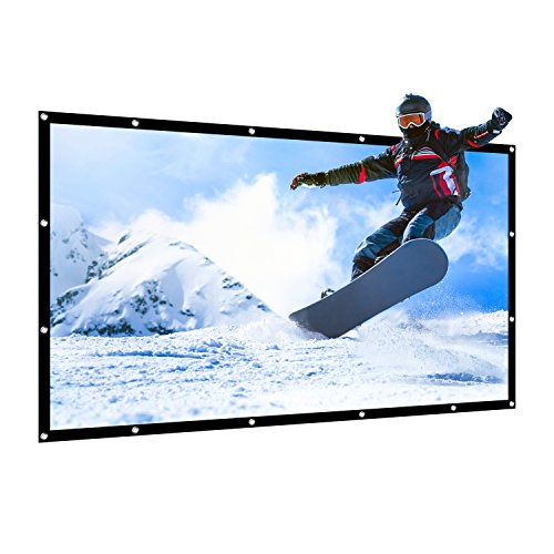 APEMAN 85'' 16:9 Projector Screen Foldable Portable Screen for Home Theater Indoor or Outdoor Presentation by APEMAN