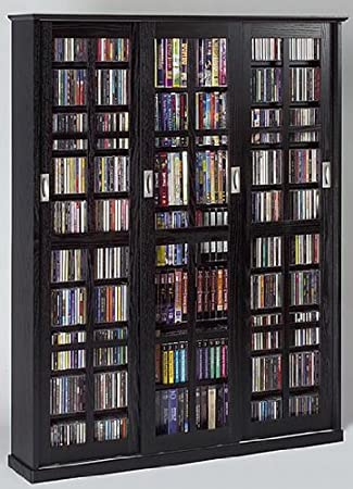 Amazon.com: Leslie Dame MS-1050B Mission Style Multimedia Storage ...