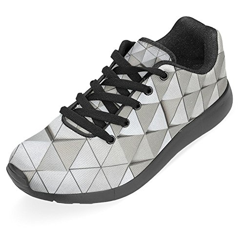 InterestPrint Womens Jogging Running Sneaker Lightweight Go Easy Walking Casual Comfort Running Shoes Abstract Architectural Pattern Multi 1 NhEXWIuU