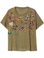 Bannerday Fiesta Linen Embroidered Tee
