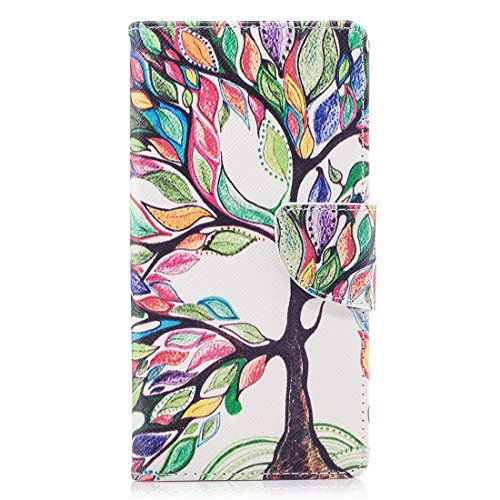 étui avec magnétique d'impression cuir cas Hozor PU de XZ1 Xperia avec tree fermeture aérosol Colorful portefeuille protection carte en support Sony conception peint Flip en fente pour X77a6wtTn