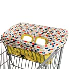 Skip Hop On The Go 2-in-1 Take Cover Grocery Cart and High Chair Cover, Dotsi
