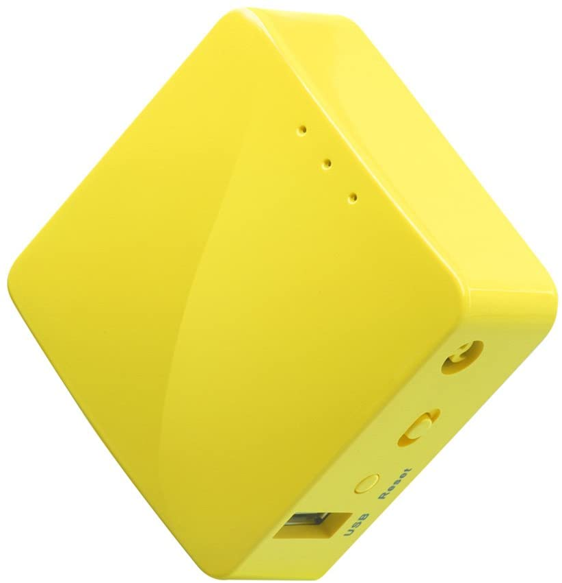 GL.iNet GL-MT300N-V2 (Mango) Mini VPN Travel Router portátil inalámbrico, Hotspot de Móvil de Bolsillo, WiFi Puente Repetidor, Extensor de Rango, Cliente OpenVPN, 300Mbps Alto Rendimiento, 128MB RAM