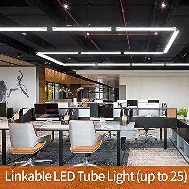Airand Luz húmeda Led 60CM 18W 1800LM Lámparas de taller enlazables IP66 Tubos LED impermeables Luz de baño Sótano Taller Garaje Oficina Almacén Sala ...