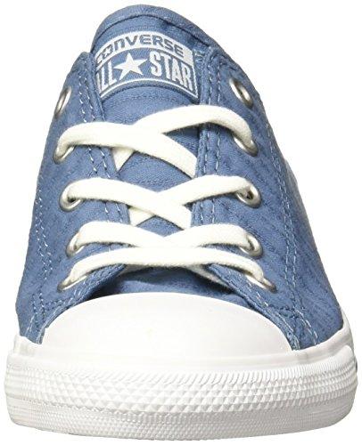 Mandrini Converse 555889c Blau Chuck Taylor All Star Delicata Striscia Perforata Tela Bue Blu Costa Costa Bianco Blu / Bianco