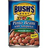Gourmet Food : Bush's Best  Pinto Beans with Jalapenos, 16 oz (12 cans)