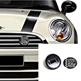 MINIS Rule - BLACK Grill Badge Holder Value Combo Kit / Original GoBadges / Installs in MINUTES / Car Wash Safe / Interchangeable Badges / Accepts 3