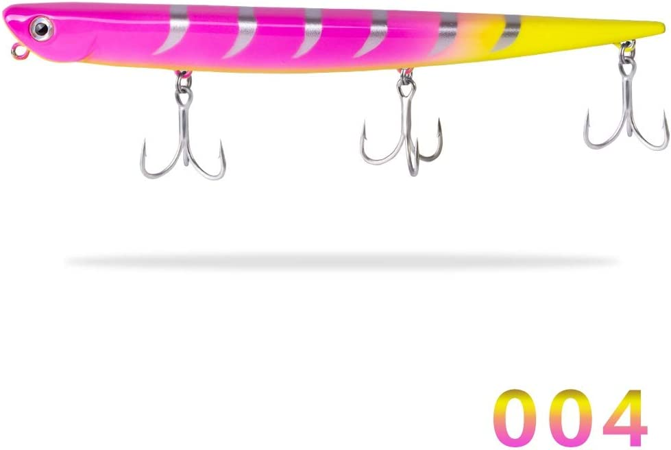 Color : 001, Size : 99mm 18.5g Swimbait Bay Ruf Manic Fishing Lure Pencil Bait Sinking 99mm 18.5g 155mm 31.5g Origin Hook For Sea Bass Bluefish Perch FJJ-DIAOYU