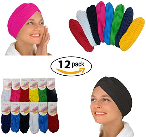 Dozen Pack- 12 Perfect Fit Beautiful Turbans by CoverYourHair¨