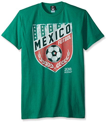 FIFA Men's Russia 2018 Country Crest Tees, Green//Mexico, x-Large (Mexico World Cup)