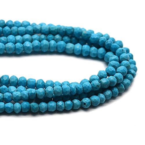 1 Strands Premium faceted Turquoise Rondelle beads 3-4mm faceted rondelle 13 inch strands . Wholesale Price.(RLTQ-70002) (Turquoise Beads Wholesale)