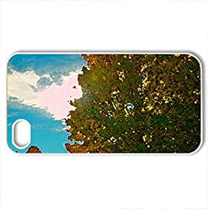 fantasatic autumn sunbeams - Case Cover for iPhone 4 and 4s (Forests Series, Watercolor style, White)