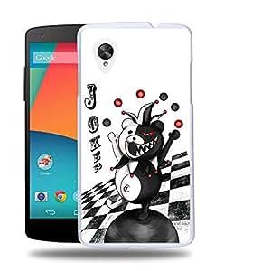 Case88 Designs Danganronpa Monokuma Joker Protective Snap-on Hard Back Case Cover for LG Nexus 5