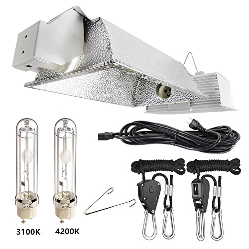 - iPower 630W 3100K Double Lamp Ceramic Metal Halide Grow Light System Kits for Indoor Plants 240V includes 2 x 315 Watt CMH Bulbs