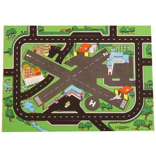 Combo Airport (Combo Airport + Roadway Playmat - A Fun Addition For The Bedroom, Playroom, Nursery Or Class Room! by Be-Active)