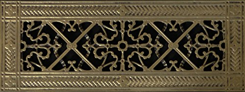 Decorative Grille, Vent Cover, or Return Register. Made of Urethane Resin to fit over a 4'x14' duct or opening. Total size of vent is 6'x16'x3/8', for wall and ceiling grilles (not for floor use).