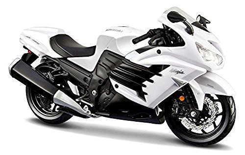 Maisto 2012 Kawasaki Ninja ZX-14R White Motorcycle 1/12 by Maisto