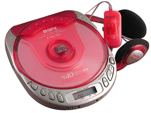 GPX C3943CT Personal CD Player with 40-Second Anti-Skip Protection (Translucent Red) -  GPX, Inc.
