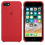 Caseous Premium Silicone Soft Back Cover Case Best Quality for Apple iPhone 7 and iPhone 8 - Red