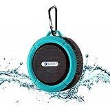 E-Zigo Outdoor Sport Bluetooth Speaker SplashProof & Shockproof Portable Shower HD Wireless speaker phone w/ Suction Cup & Built-in Mic for Bluetooth-enabled Devices (Blue&Black)