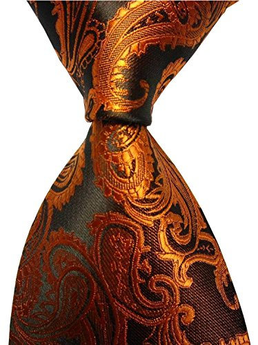Brown Paisley Jacquard Woven Necktie product image