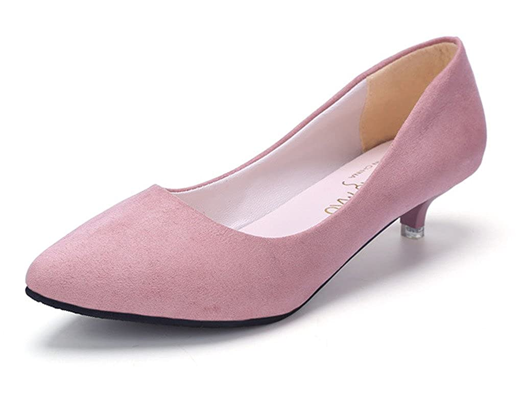 3e3efafda01 Minetom Mujer Primavera Cómodo Kitten Heel Zapatos Casual Zapatos de ...