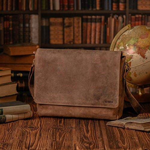 búfalo Vintage el Oxford LEABAGS de auténtico Estilo Bolso Fallow Cuero en Fox Bandolera xn8vdYvrqw