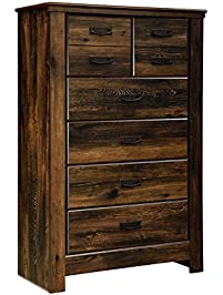 Ashley Furniture Signature Design  Quinden Chest of Drawers 5 Vintage Casual Dressers Amazon com