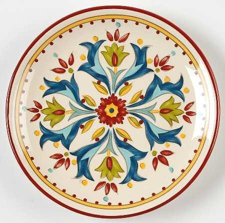 Bobby Flay Sevilla Canape Plate, Fine China Dinnerware