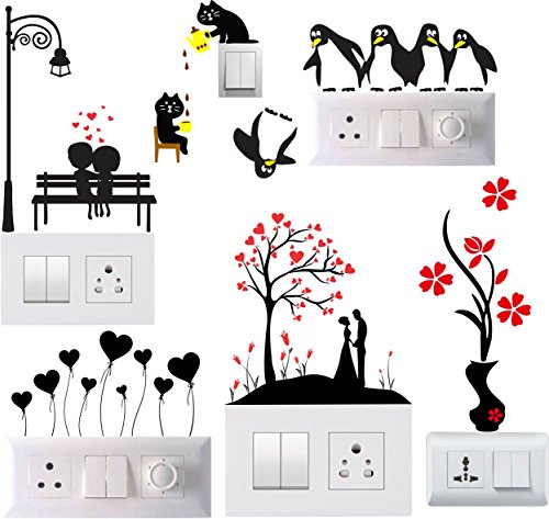 Decals Sticker Switch Board Sticker Light Switches Sticker Combo Set of 6
