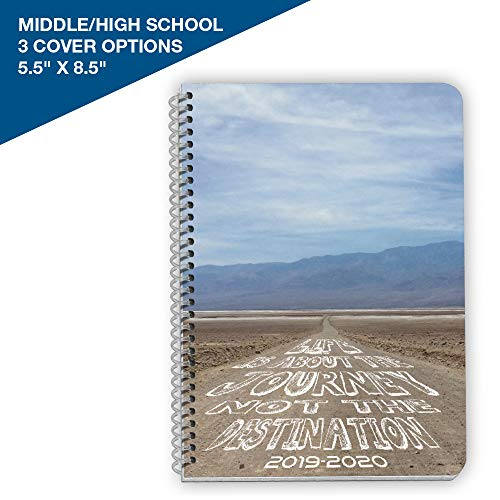 """2019-2020 Middle/High School Block Style Student Planner, 5.5"""" x 8.5"""" Small with Journey Cover by School Datebooks"""