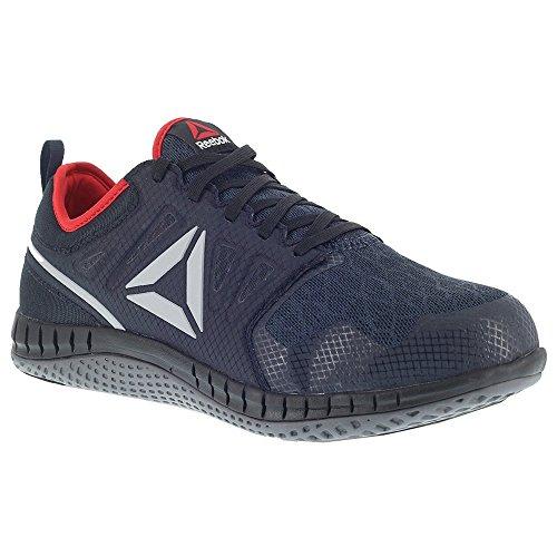 Reebok Mens Navy Mesh Work Shoes Steel Toe EH Red Athletic Oxford 5.5 M ()