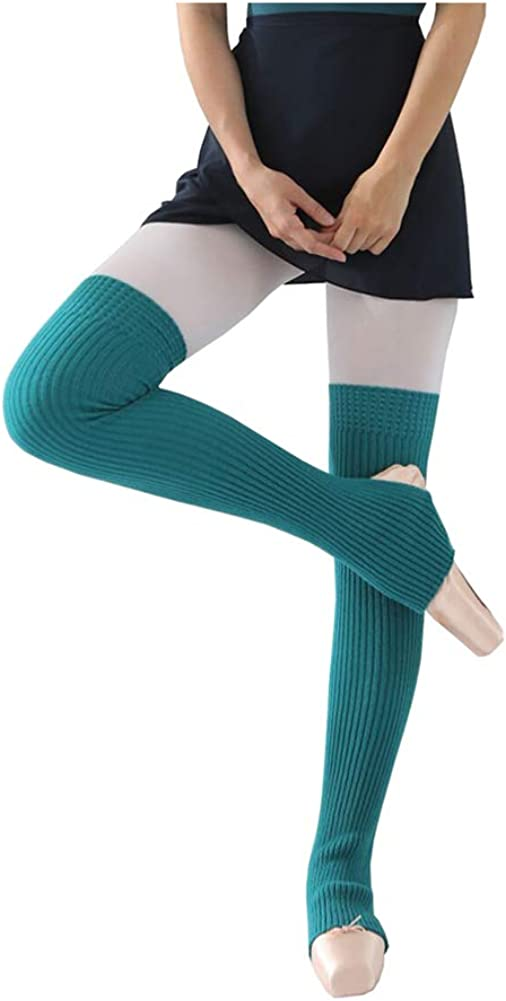 CHUNG Womens Over Knee Thigh High Warm Leg Warmers Stirrup Thermal 80s Long Socks Yoga Ballet Dance