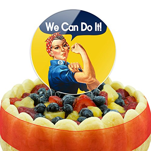 Rosie the Riveter We Can Do It Cake Top Topper