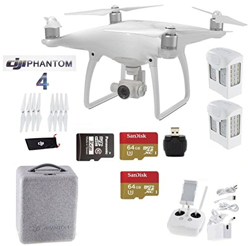 DJI-Phantom-4-Beginners-Kit-Includes-2-Intellegent-In-Flight-Battery-2-Extended-Video-64GB-Micro-SD-Memory-Card