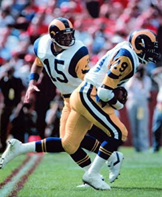Eric Dickerson & Vince Ferragamo Los Angeles Rams 8x10 Sports Action Photo (k)