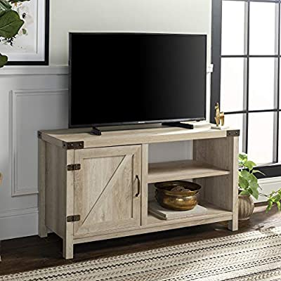 WE Furniture Modern Farmhouse Barn DoorWood Stand for TV\'s up to 48\