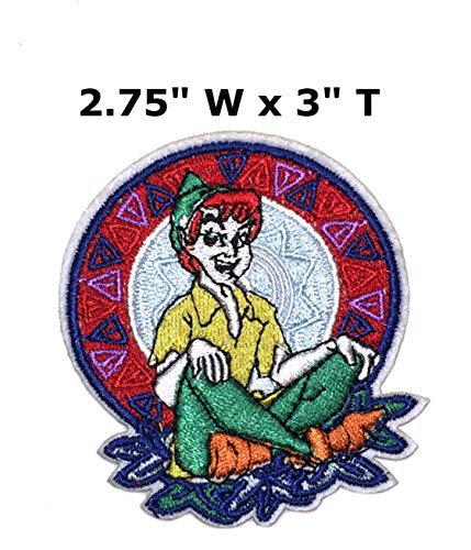 Peter Pan Cartoon Embroidered Sew or Iron-on Patch Badge DIY Application (Peter Office Space Costume)