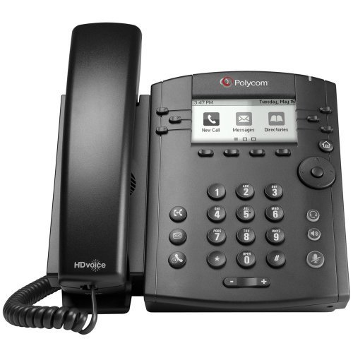 Polycom VVX 301 Corded Business Media Phone System - 6 Line PoE - 2200-48300-001 - AC Adapter (Included) (Certified Refurbished)