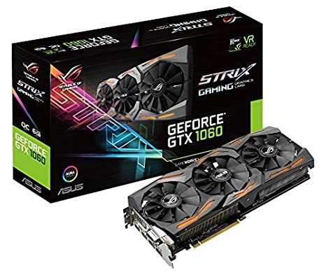 best loved 7cfa6 b3c32 Asus GeForce ROG Strix GTX 1060 Scheda Grafica OC Edition da 6 GB, 4x  Monitor