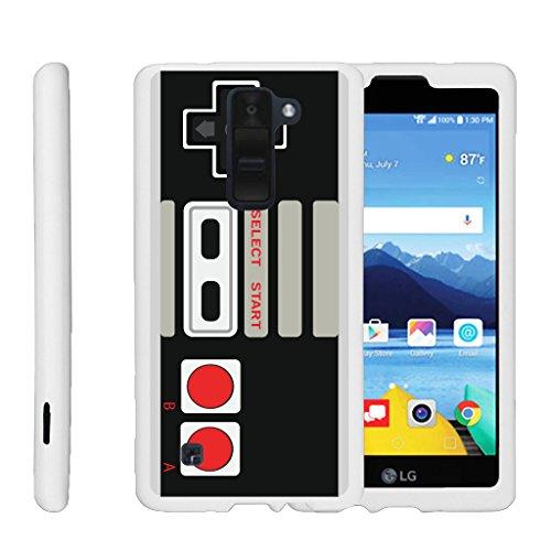 MINITURTLE Case Compatible w/ [LG K8 V from Verizon Slim Case, VS500][Snap Shell] Hard Plastic Slim White Snap on case w/ Unique Designs Game Controller