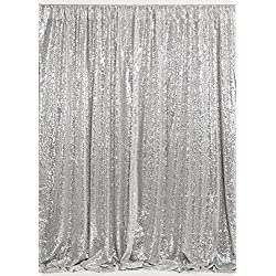 B-COOL Silver Sequin Backdrop 7ftx7ft Photography Backdrop Sequin Backdrop Photography Curtain Backdrop Wedding Photo Booth Curtains Studio Background Sparkly Sequin Background
