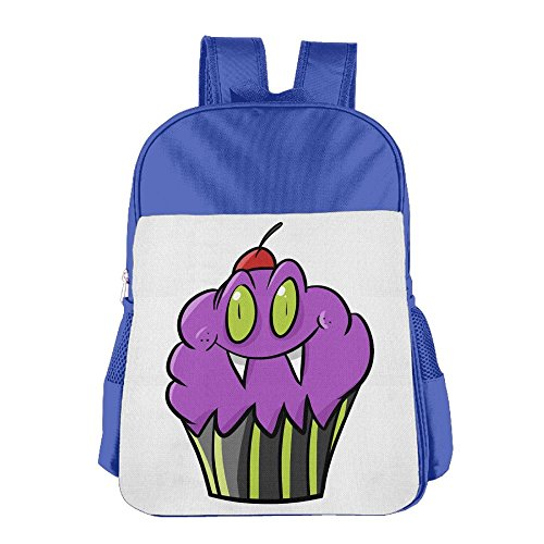 Kanduquyi Halloween Cupcake Kids' Backpacks Cute Children Backpack Schoolbags For Boys And Girls RoyalBlue