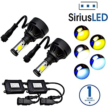 siriusled 4th gen extremely bright 7200 lumens cree led bulbs for headlights fog. Black Bedroom Furniture Sets. Home Design Ideas