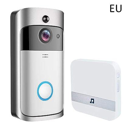 Video Doorbell, cámara de seguridad HD 720P HD Timbre WiFi Video en tiempo real,
