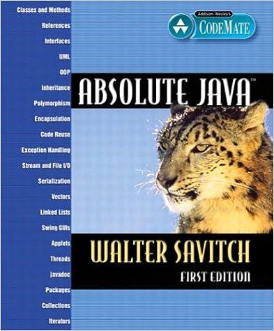 eBook télécharger reddit: Absolute Java 0321205677 PDF